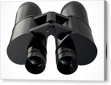 Binoculars Isolated Canvas Print by Allan Swart