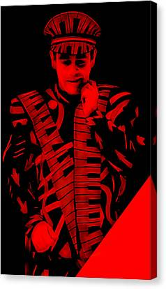 Elton John Collection Canvas Print by Marvin Blaine