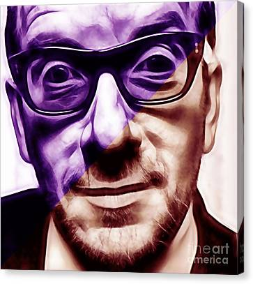 Elvis Costello Collection Canvas Print by Marvin Blaine