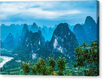 Karst Mountains Landscape Canvas Print by Carl Ning