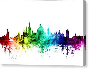 Oxford England Skyline Canvas Print by Michael Tompsett