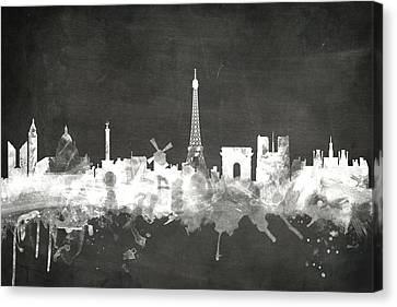 Paris France Skyline Canvas Print by Michael Tompsett