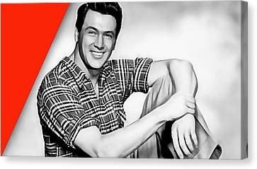 Rock Hudson Collection Canvas Print by Marvin Blaine