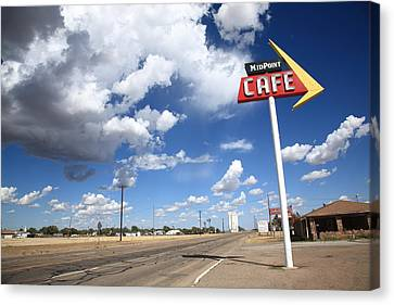 Route 66 Cafe Canvas Print by Frank Romeo