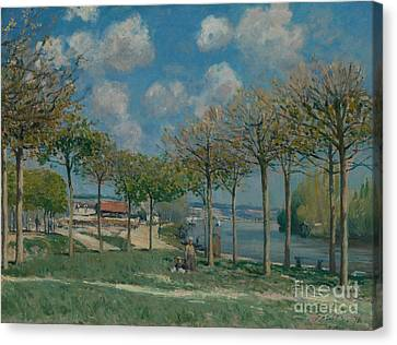 The Seine At Bougival Canvas Print by MotionAge Designs