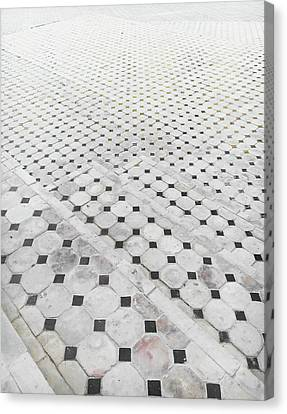 Tiled Steps Canvas Print by Tom Gowanlock