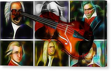 Violin Collection Canvas Print by Marvin Blaine