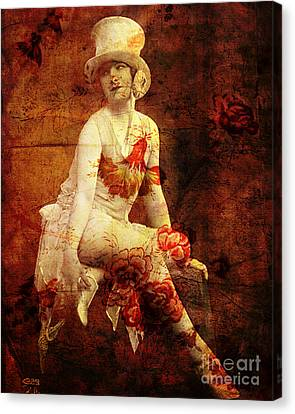 Winsome Woman Canvas Print by Chris Andruskiewicz