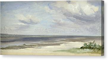 A Beach On The Baltic Sea At Laboe Canvas Print by Jacob Gensler