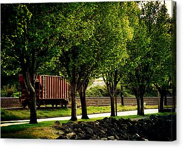 A Boxcar Story Canvas Print by Kerry Langel
