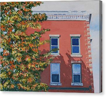 A Brick In Time Canvas Print by Lynne Reichhart
