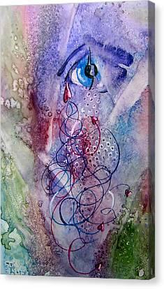 A Broken Eye Still Cries Canvas Print by Marsha Elliott