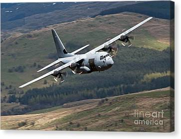A C-130 Hercules Of The Royal Air Force Canvas Print by Andrew Chittock