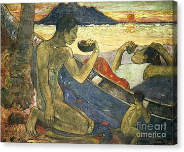 A Canoe Canvas Print by Paul Gauguin