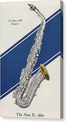 A Charles Gerard Conn Eb Alto Saxophone Canvas Print by American School