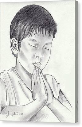 A Child's Prayer Canvas Print by John Keaton