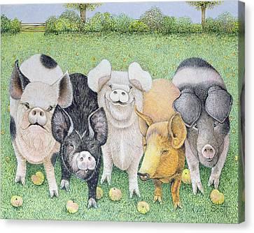 A Chorus Line Canvas Print by Pat Scott