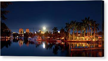 A Christmas Moon  Canvas Print by Mark Andrew Thomas