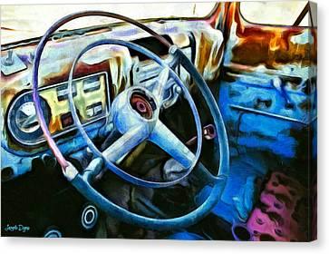 A Classical Vehicle - Pa Canvas Print by Leonardo Digenio