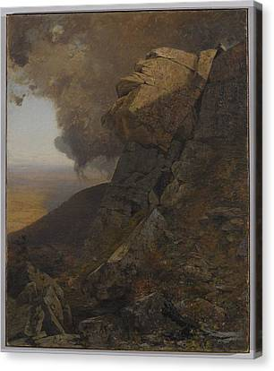 A Cliff In The Katskills Canvas Print by MotionAge Designs