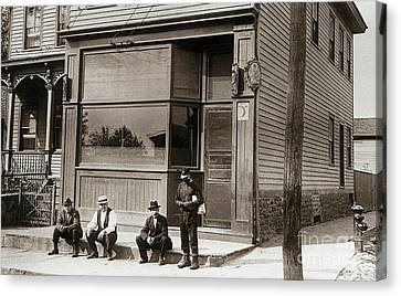 A Coal Miners Bar  George Ave Parsons Pennsylvania Early 1900s Canvas Print by Arthur Miller