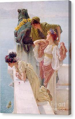 A Coign Of Vantage Canvas Print by Sir Lawrence Alma-Tadema