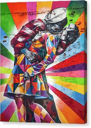 A Colorful Romance Canvas Print by Az Jackson