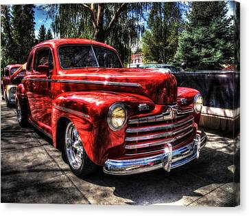 A Cool 46 Ford Coupe Canvas Print by Thom Zehrfeld