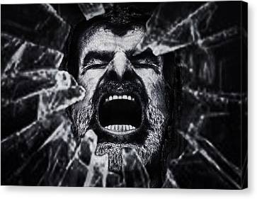 A Cry From The Dark Side Canvas Print by Piet Flour