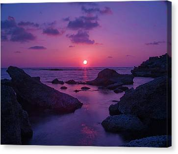 A Cypriot Sunset Canvas Print by Amanda Finan