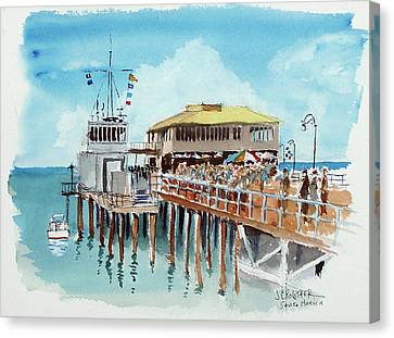A Day At The Shore Canvas Print by John Crowther