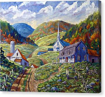A Day In Our Valley Canvas Print by Richard T Pranke