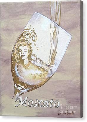 A Day Without Wine - Moscato Canvas Print by Jennifer  Donald