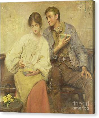 A Dinner Of Herbs  Canvas Print by George William Joy