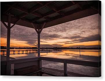 A Dockside View Canvas Print by Kristopher Schoenleber