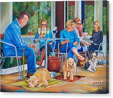 A Dog's Life Canvas Print by AnnaJo Vahle