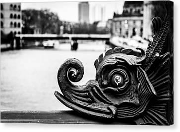 A Dragon On The Spree Canvas Print by Tom Yalrah