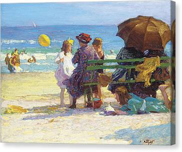 A Family Outing Canvas Print by Edward Henry Potthast