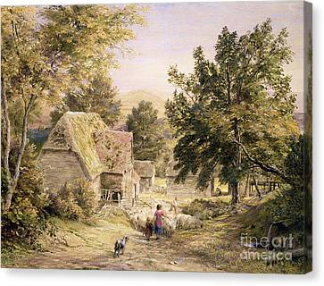 A Farmyard Near Princes Risborough Canvas Print by Samuel Palmer