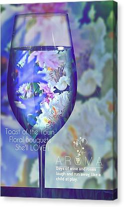 A Fine Wine Bouquet  Canvas Print by ARTography by Pamela Smale Williams