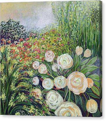 A Garden Romance Canvas Print by Jennifer Lommers