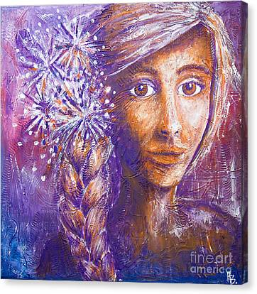 A Girl Canvas Print by Home Art