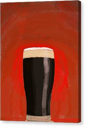 A Glass Of Stout Canvas Print by Keshava Shukla