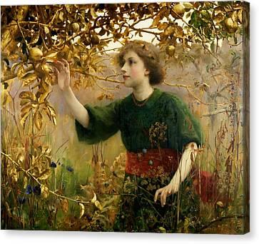 A Golden Dream Canvas Print by Thomas Cooper Gotch
