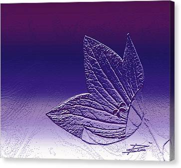 A Good Day For Purple Canvas Print by Barbara  White