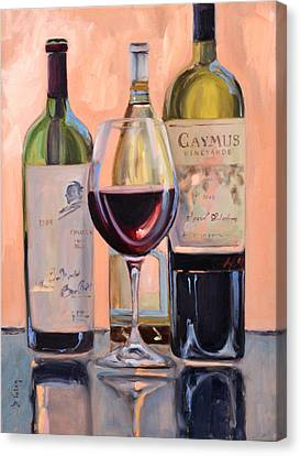 A Good Pair - Caymus And Opus Canvas Print by Donna Tuten