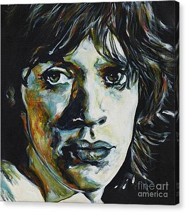 Mick Jagger Poster Canvas Print featuring the painting Mick Jagger. American Tour 1969 by Tanya Filichkin