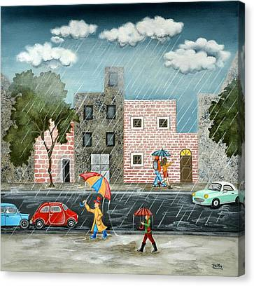 A Great Rainy Day Canvas Print by Graciela Bello