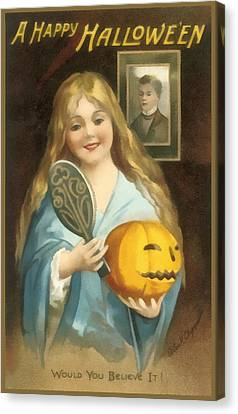 A Happy Halloween Canvas Print by Uknown