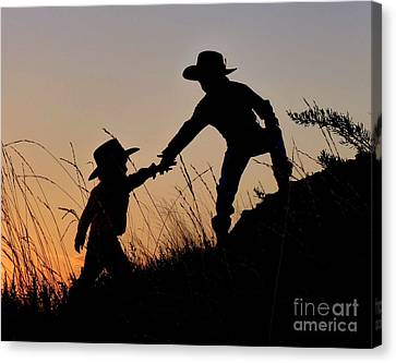 A Helping Hand Canvas Print by Carla Froshaug